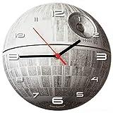 SuperDuperDecor Horloge Star Wars -Brille dans le noir-Étoile de la mort-Horloge murale