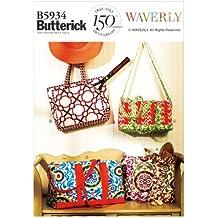 Butterick Patterns B5933 - Patrones e instrucciones para hacer cojines, pantalones cortos de mujer, sombreros y bolsos grandes (tallas L, XL y XXL), color blanco