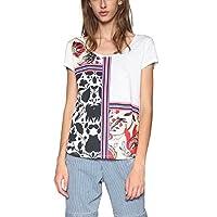 Desigual Women's DEO Short Sleeve T-Shirt, Blanco, L