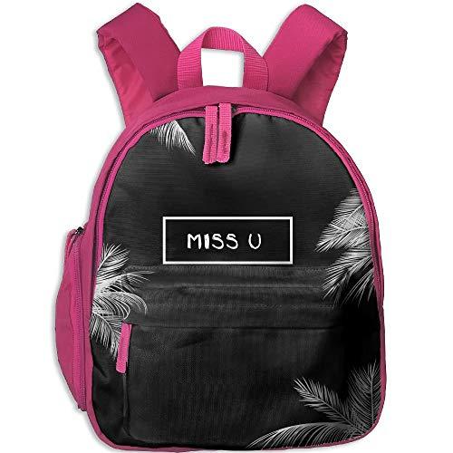 Miss U Kid and Toddler Student Backpack School Bag Super Bookbag Pink Miss Zebra