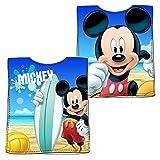 Disney Topolino Mickey Mouse - Bambini Asciugamano Poncho 50 x 100 cm