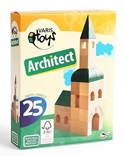 Varis europäischen Architekt aus Holz (25Stück)