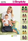 Simplicity Sewing Pattern 2278 Misses and Babys Shoes