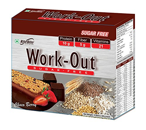 Rite Bite Work Out Sugar Free Energy Bar - 50...