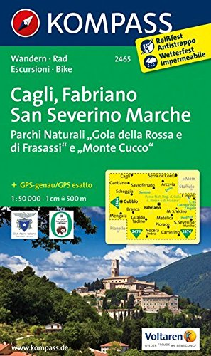 Cagli - Fabriano - San Severino Marche 1 : 50 000: Wanderkarte mit Radtouren. GPS-genau: Wandelkaart 1:50 000