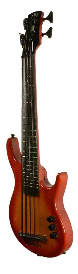 Kala Solid U Bass, Fretted 4perizoma Cherry Sunburst, with a–Gigbag ka UBASS sub4fs chbr