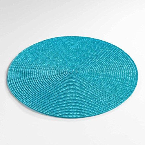 Décor Line ZEBULON Set de table Plastique Bleu 35 x 35 cm