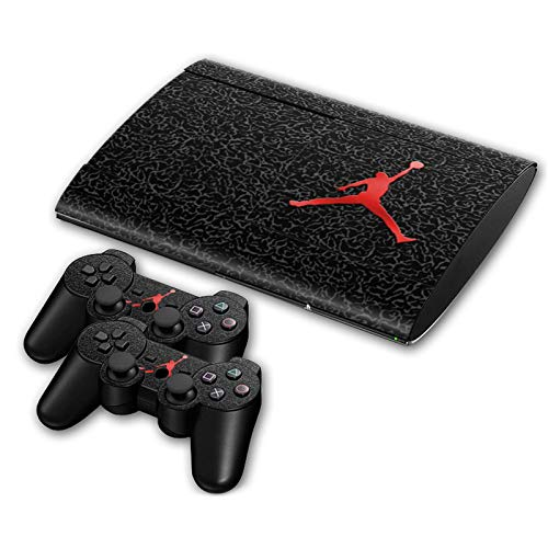 MagicSkin Vinyl-Aufkleber für Playstation PS3 Slim 4000 Konsole und 2 Controller