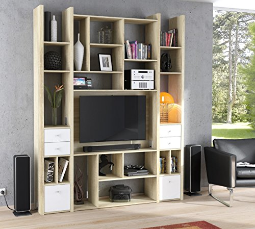 MAJA Raumteiler Wandregal Cableboard 6032 in Edelbuche 180x226x30cm Bücherregal Wohnwand / Modell 2016