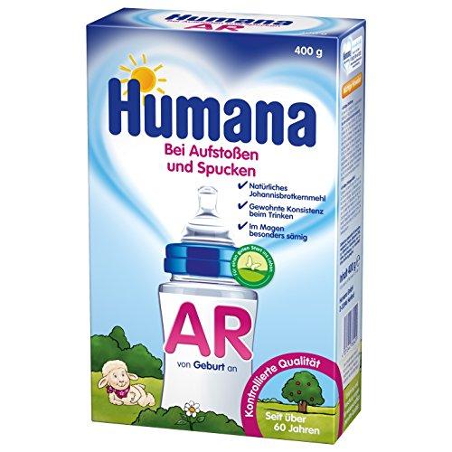 Humana AR Antireflux Spezialnahrung bei Austoßen und Spucken, ab dem 1. Fläschchen, 1er Pack (1 x 400 g)