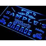 qu-tm Name Personalized Custom Biker's Garage Motorcycle Repair Bar Neon Sign Enseigne Lumineuse