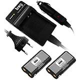 2 x Battéria + Chargeur pour RCR-V3 CR-V3 CRV3 CR-V3P