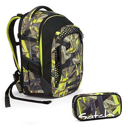 Satch Match 2tlg. Schulrucksack Set mit BOX – Jungle Lazer