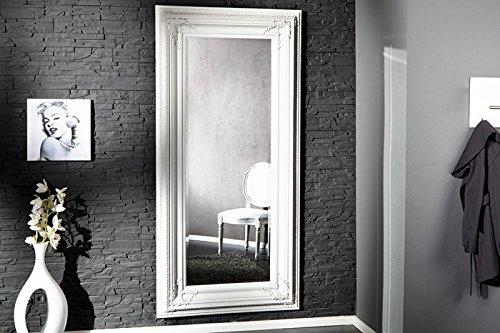 DuNord Design Wandspiegel Standspiegel Barockspiegel weiß BAROCCO XXL 180cm Barock Spiegel