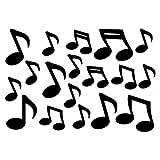 plot4u Musiknoten Aufkleber Musik 18 Stück 12xca.5cm-6xca.7,5cm schwarz
