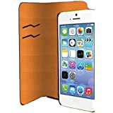 Muvit MUMAG0001 Etui Folio pour iPhone 5C Gris/Orange