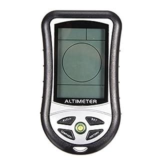 KUNSE 8 in 1 digitaler LCD-Kompass Altimeter Barometer Thermo Temperatur Uhr Kalender