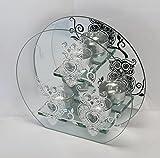 Decoline Glas Teelichthalter (für 3 Teelichter, Motiv: Eule)