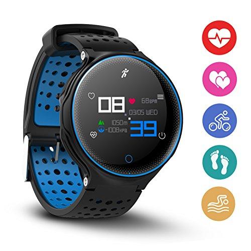 Aodoor Fitness Armbanduhr, Fitness Tracker,Smartwatch Armband Armbanduhr 1.04 Zoll OLED Display, Blutdruck, Dynamischer Pulsmesser, Schlaf-Monitor, mit Super Lange Standby Zeit