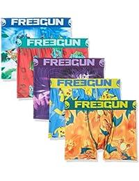 Freegun FG/PM/AM/3/PK5/B1, Bóxer Para Niños, Pack de 5