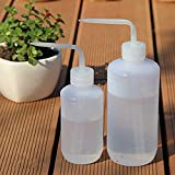 #4: Di Grazia Pack of 2 Plant Flower Succulent Watering Bottle Plastic Bend Mouth Watering Cans Squeeze Bottle--250ML and 500ML