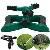 GEYUEYA Home Lawn Sprinkler Garden Sprinkler 3 Arm with Impact Sprinkler, Automatic 360