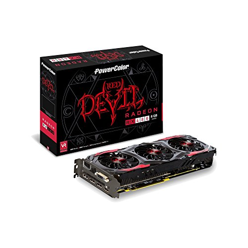 PowerColor AXRX PCI-e RX 480 Red Devil 8GB DDR5 Grafikkarte mit HDMI, 3x Display-Port grau