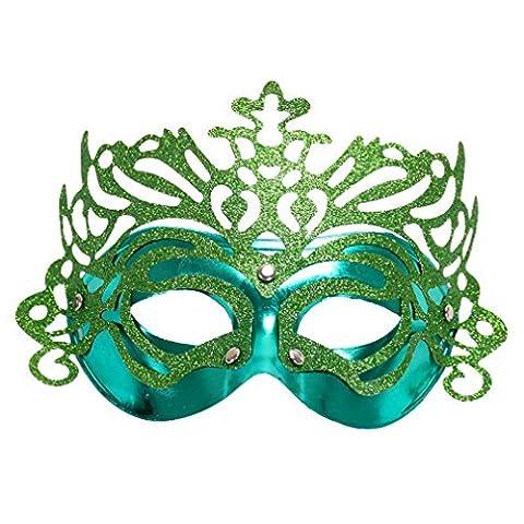 Costumes Masquerade Princesse - YAZILIND femmes mode Couronne moitié visage masques