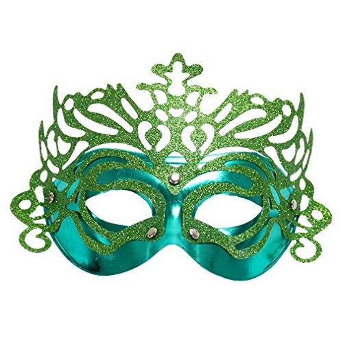 YAZILIND Frauen Zubehör Mode Crown Halbes Gesicht Venedig Maske für Kostüm Masquerade Halloween Party (Halb Und Kostüme Halb)