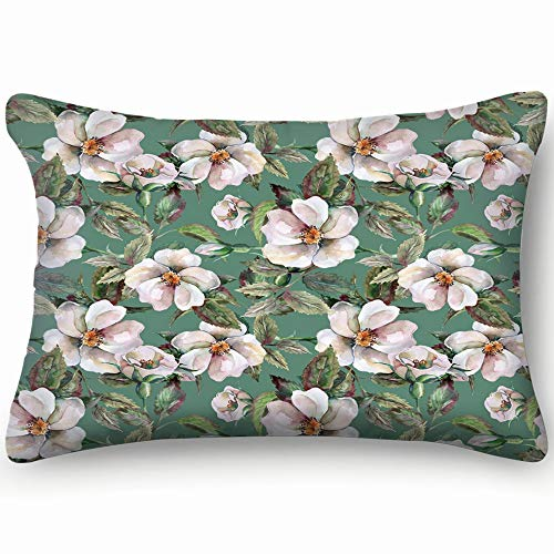 wild Roses Abstract Autumn Abstract Autumn Cotton Linen Blend Decorative Throw Pillow Cover Cushion Covers Pillowcase Pillow Shams, Home Decor Decorations for Sofa Couch Bed Chair 20x30 Inch Old Country Roses Garden