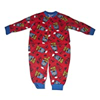 Boys Onesie Pyjamas Official Thomas The Tank Engine Red