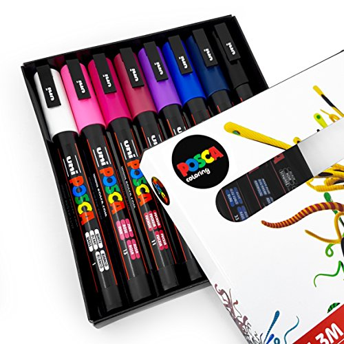 Uni POSCA - PC-3M Art Paint Markers - Midnight Tones - Set of 8 - In ...