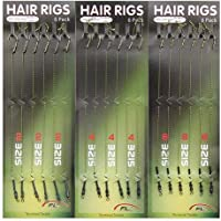 Shaddock pesca® 18pcs per pesca alla carpa Hair Rig intrecciato linea filo 8340in acciaio al carbonio gancio girevole Boilies Carp Rig Accessori per la pesca Terminal Tackle