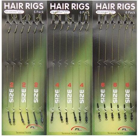 Shaddock Fishing 18pcs Carp Fishing Hair Rigs Braided Thread 8340 High Carbon Steel Hook Swivel Boilies Carp Rigs Carp Fishing Accessories by Shaddock Fishing