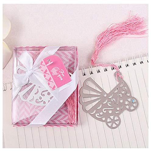 Gift Baby Cart Bookmarks Christening Baptism And Back To School Gift Pink And Blue Box Wedding Favor Child Birthday B -