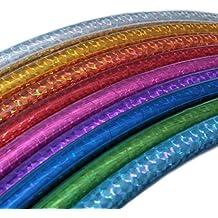 Hula Hoop para niños, colores holográficos, Ø60cm, Azul