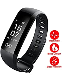 Fitness Tracker,Fitness Armbänder mit Aktivitäts Tracker,Erinnerung an Nachrichten,Schrittzähler,Kalorienzähler,Entfernungsmesser,IP67 Wasserdicht 0.96 OLED Bluetooth Smartwatch, für Android/IOS