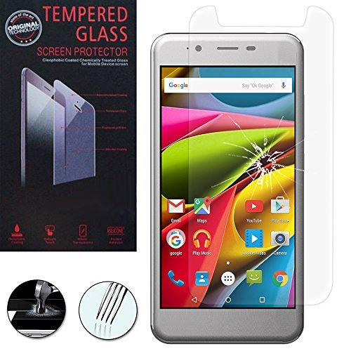 Hcn Phone ® Schutz Folie für Seri Archos - 1 Folie Hartglas, Archos 50 Cobalt 5.0