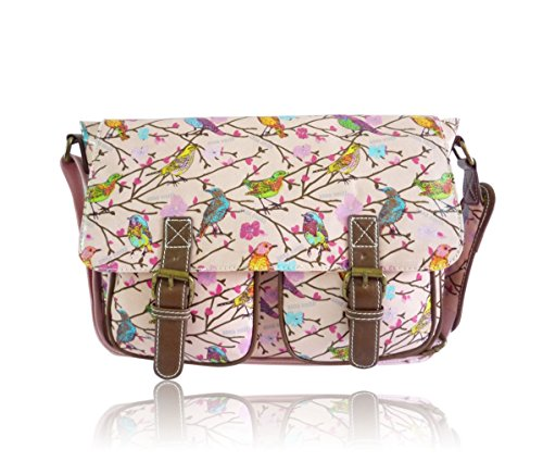 Saute Styles, Cartable pour Femme Pink Sparrow Print