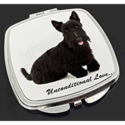 Scottish -Terrier-Hund - With Love Make-up Taschenspiegel Weihnachtsgeschenk
