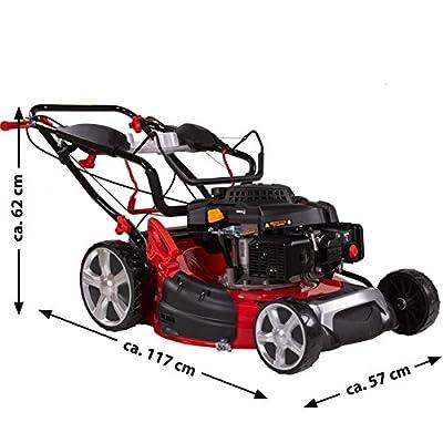 Rotfuchs Benzin Rasenmäher Selbstantrieb 5in1-Funktion GT-Markengetriebe 196ccm max. 4,4kW(6PS) 62L Grasfangkorb 53cm Schnittbreite Reinigungsfunktion