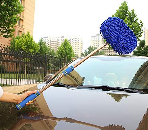ZUOR Autowaschbürste mit teleskopstiel Langen Griff 62-98 cm Auto putzen Leichtgewicht Wird Nicht Haarausfall Wird den Lack Nicht verletzen,B