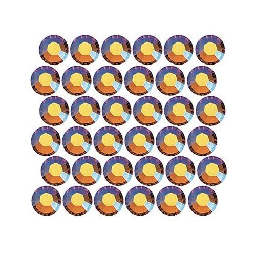 SWAROVSKI ELEMENTS Hotfix 2028 Strassstein, flache Rückseite, Kristallgröße SS20, Topas, 50 Stück -
