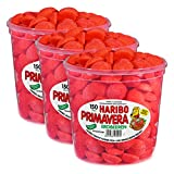 Haribo Primavera Erdbeeren Groß, 3er Pack, Fruchtiger Schaumzucker, Süßwaren, 300 Stück