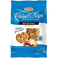 Snyder's Of Hanover, Deli Style Pretzel Crisps - All Natural, Baked, Original Flavour - 85g Pack of 8, Crunchy Pretzel Cracker