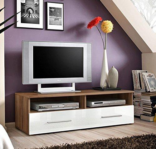 Lettiemobili -Mobile TV modello Terento legno di ciliegio con bianco