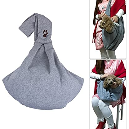 ZeWoo Transport Portable Outdoor Single Shoulder Handbag Soft Cotton Travel Pet Sling Dog Cat Carrier Bag Up To 4kg 1