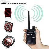 Rilevatore RF Detector di Bug Rivelatore ad Altissima Sensibilità Rilevatore di Segnale Wireless Anti-spy Suggerimenti per l'allarme Sonoro e Luminoso Zeerkeer (Nero)