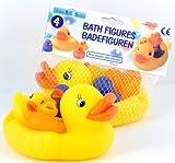 Badeentchen Enten Mutter 3 Kücken Gummienten Quietscheentchen
