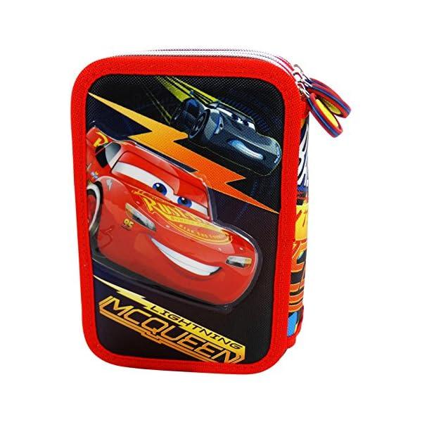 Cars Race 3 Estuche Escolar Làpices de colores Plumier triple